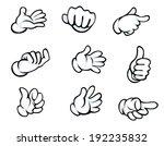 set of hand gestures in cartoon ... | Shutterstock . vector #192235832