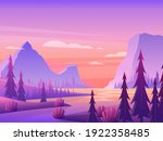 mountain landscape with forest... | Shutterstock .eps vector #1922358485