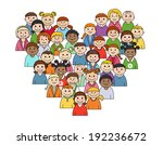 heart shape with childrens for...   Shutterstock . vector #192236672