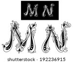 capital letters m and n in...   Shutterstock . vector #192236915