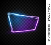 glowing neon vectord frame with ...   Shutterstock .eps vector #1922374922