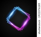 glowing neon vectord frame with ...   Shutterstock .eps vector #1922376185