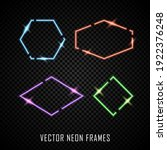 set of colorful neon frames on...   Shutterstock .eps vector #1922376248