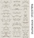 floral decorative borders ... | Shutterstock .eps vector #192237896
