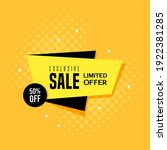 promotional sale banner... | Shutterstock .eps vector #1922381285