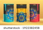 colorful tea packaging design... | Shutterstock .eps vector #1922382458