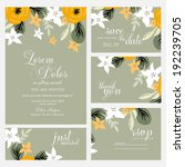 wedding invitation card | Shutterstock .eps vector #192239705