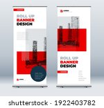 red business roll up banner....   Shutterstock .eps vector #1922403782