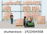 warehouse of the logistics...   Shutterstock .eps vector #1922404508