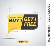 buy get free banner template...   Shutterstock .eps vector #1922420012