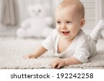 portrait of a crawling baby on... | Shutterstock . vector #192242258