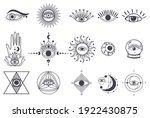 evil eyes symbol set. magical...   Shutterstock .eps vector #1922430875