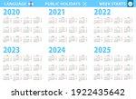 calendar in hebrew language for ...   Shutterstock .eps vector #1922435642