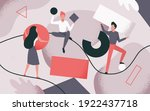 people collect scattered... | Shutterstock .eps vector #1922437718