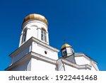 White Monastery Against Blue...