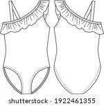 trendy girls off shoulder... | Shutterstock .eps vector #1922461355