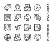 contact us line icons set.... | Shutterstock .eps vector #1922465855