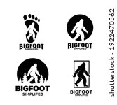 set of big foot yeti logo icon... | Shutterstock .eps vector #1922470562