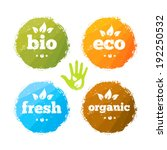 organic eco friendly bio fresh... | Shutterstock .eps vector #192250532