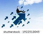 caucasian businessman working...   Shutterstock . vector #1922513045