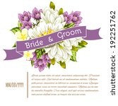 set of invitations with floral... | Shutterstock .eps vector #192251762