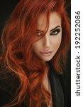 Small photo of Glamorous red hair women