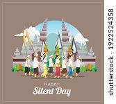 balinese nyepi greetings card... | Shutterstock .eps vector #1922524358