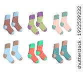 set of multicolored vintage... | Shutterstock .eps vector #1922539232