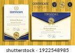 elegant blue and gold diploma... | Shutterstock .eps vector #1922548985