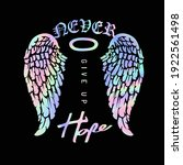 never give up hope slogan with... | Shutterstock .eps vector #1922561498