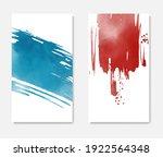 watercolor card. banner sale... | Shutterstock .eps vector #1922564348