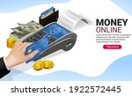 magnetic card payment without... | Shutterstock .eps vector #1922572445