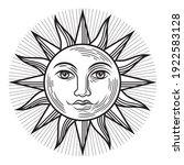 vintage sun antique symbol.... | Shutterstock .eps vector #1922583128
