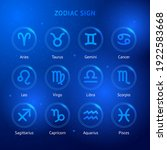 zodiac sign icons. vector... | Shutterstock .eps vector #1922583668