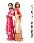 two beautiful bangali brides in ... | Shutterstock . vector #19225864
