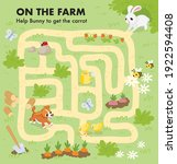 vector colorful maze for... | Shutterstock .eps vector #1922594408