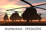 a group of military helicopters. | Shutterstock . vector #192262202