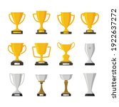 set of trophy award winner... | Shutterstock .eps vector #1922637272