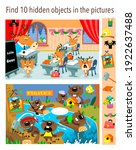 find 10 hidden objects in the... | Shutterstock .eps vector #1922637488