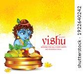 happy vishu  kerala festival... | Shutterstock .eps vector #1922640242