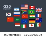 vector g20 country flag mexico  ... | Shutterstock .eps vector #1922643305