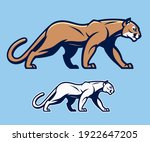 stylized cougar on the blue... | Shutterstock .eps vector #1922647205