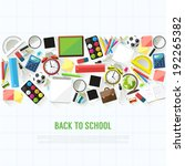 back to school flat style... | Shutterstock .eps vector #192265382