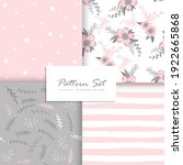 romantic seamless vector floral ... | Shutterstock .eps vector #1922665868