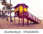 classic lifeguard station on... | Shutterstock . vector #192266642