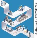 printing house isometric...   Shutterstock .eps vector #1922685245