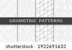 set of geometric seamless... | Shutterstock .eps vector #1922691632