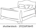 one continuous single drawing... | Shutterstock .eps vector #1922693645
