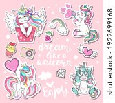 collection of cartoon unicorns... | Shutterstock .eps vector #1922699168