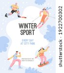 vector poster of winter sport...   Shutterstock .eps vector #1922700302